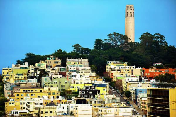 Photograph - Coit Tower View In San Francisco California Usa by Gregory Ballos