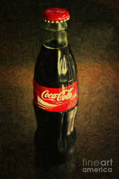 Wall Art - Photograph - Coke Bottle by Wingsdomain Art and Photography