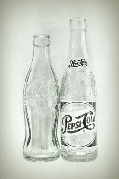 Photograph - Coke Or Pepsi Black And White by Terry DeLuco