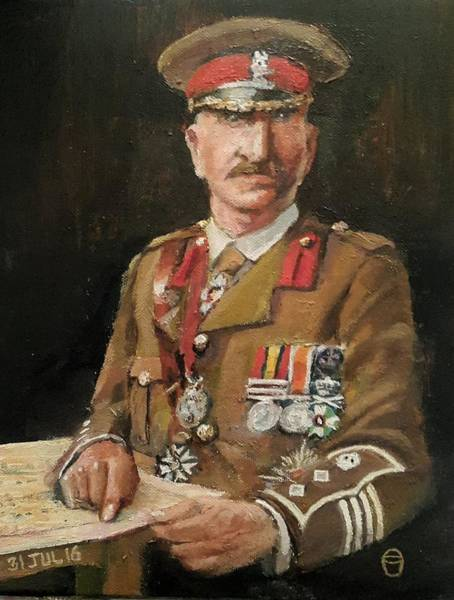 Painting - Col Charles Close by Tim Johnson