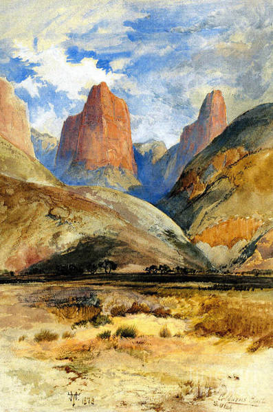 Zion Painting - Colburn's Butte, South Utah, 1873 by Thomas Moran