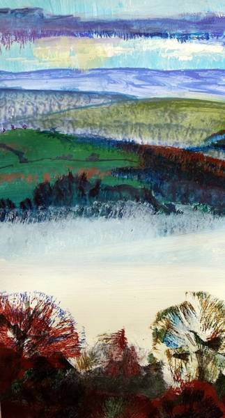 Painting - Cold Bright Morning England by Mike Jory