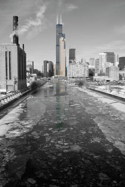 Photograph - Cold Chicago River by Dylan Punke