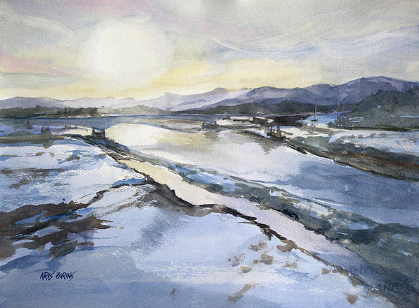 North Dakota Painting - Cold Commute by Kris Parins
