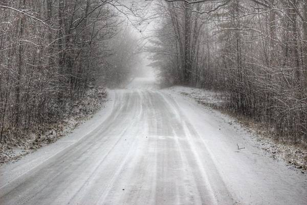 Photograph - 2501 - Cold Country Roads by Sheryl Sutter
