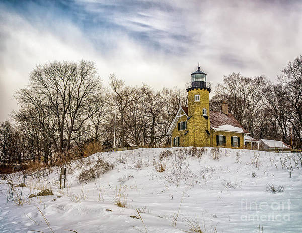 Photograph - Cold Day At White River Lighthouse by Nick Zelinsky