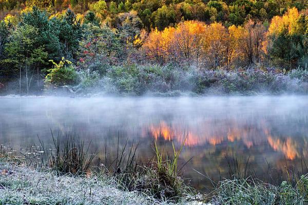 Photograph - Cold Fire Sunrise Landscape by Christina Rollo