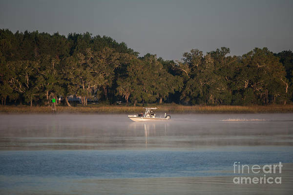 Photograph - Cold Foggy Morning Fishing Trip  by Dale Powell