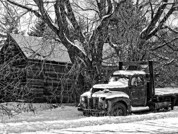 Photograph - Cold Ford Photo Bw by David King
