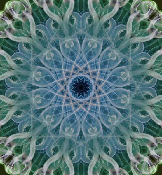 Photograph - Cold Mandala In Blue And Grey Tones by Jaroslaw Blaminsky