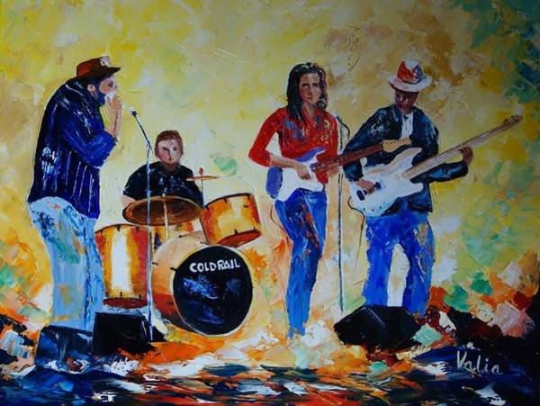 Bass Guitar Painting - Cold Rail by Valerie Curtiss