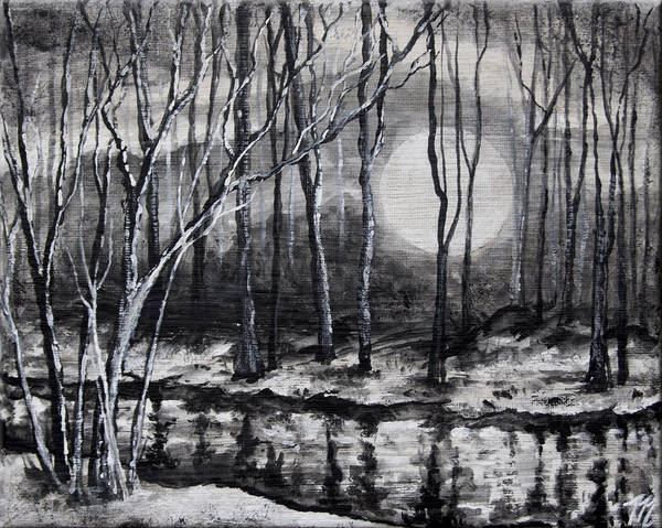 Painting - Cold Reflection by Tim Musick