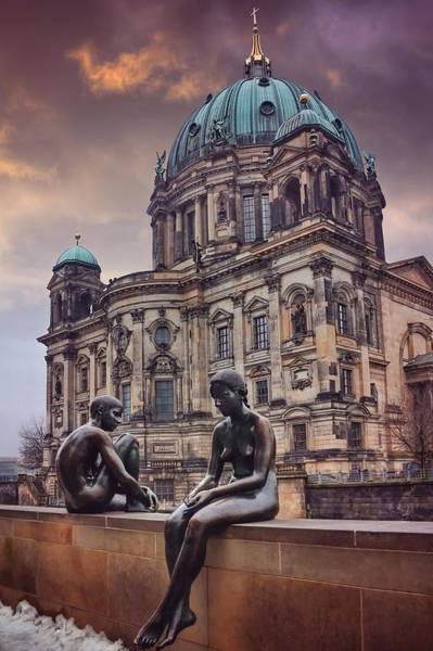 Berlin Cathedral Photograph - Cold Shoulder In Berlin by Carol Japp