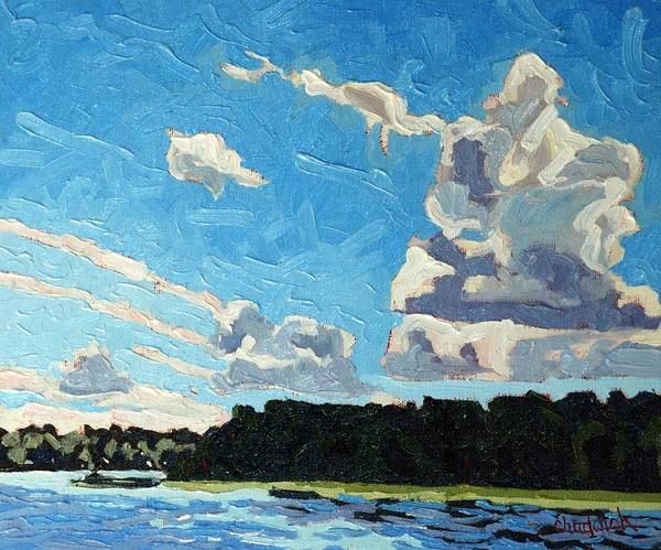 Wall Art - Painting - Cold Side Cumulus by Phil Chadwick