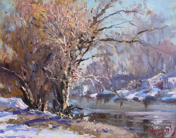 Wall Art - Painting - Cold Spring In Lasalle by Ylli Haruni
