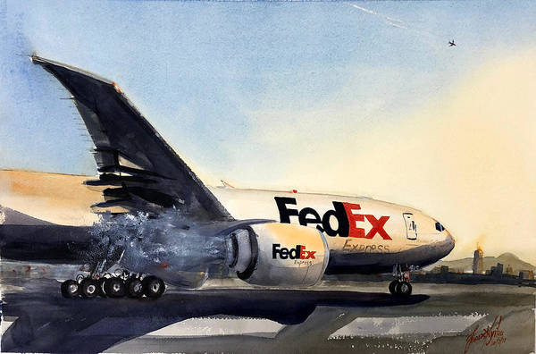 Freighter Wall Art - Painting - Cold Start by James Nyika