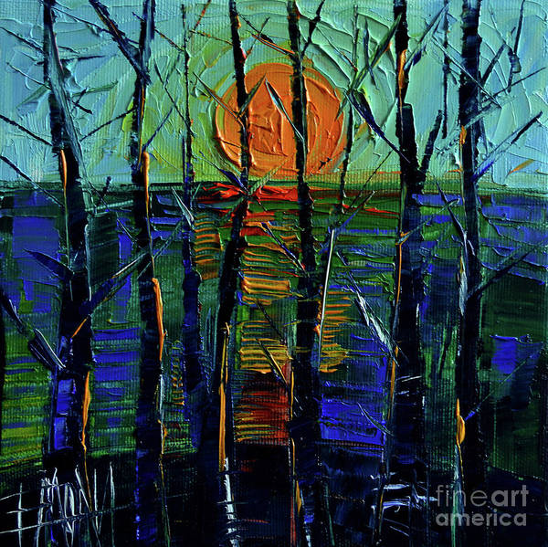 Daylight Painting - Cold Sunset by Mona Edulesco