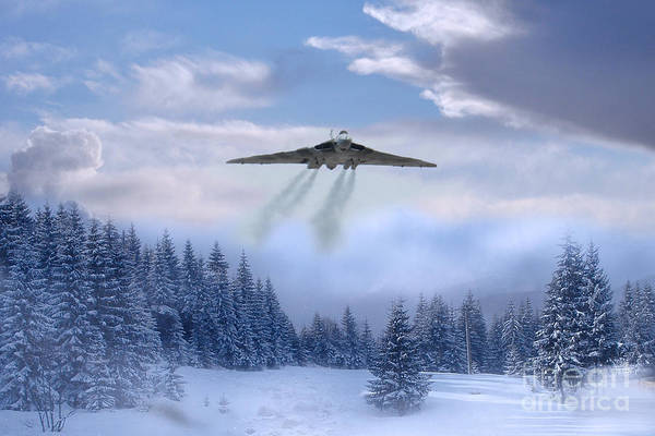 Avro Vulcan Wall Art - Digital Art - Cold War Bomber by J Biggadike