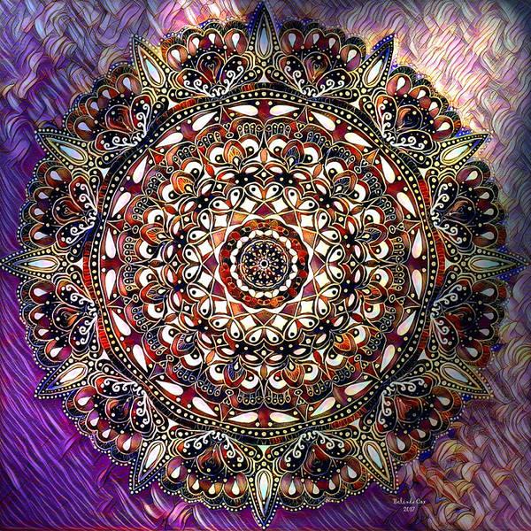 Digital Art - Cold Winter Mandala by Artful Oasis