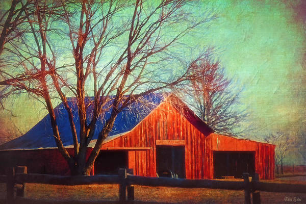 Photograph - Cold Winter Red Barn by Anna Louise