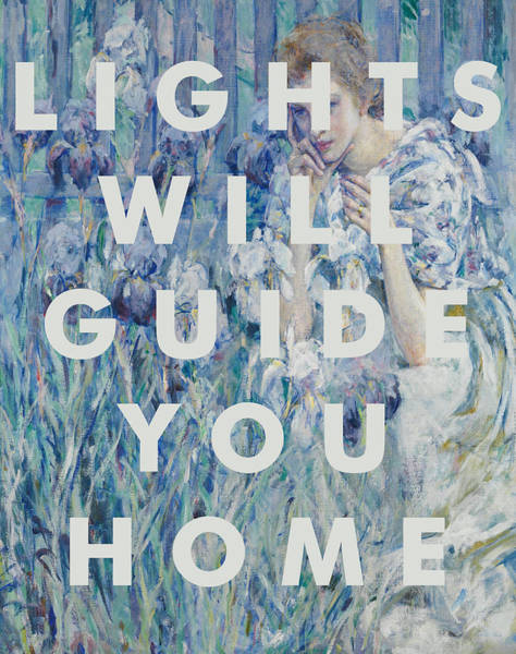 Fleur Digital Art - Coldplay Lyrics Print by Georgia Fowler