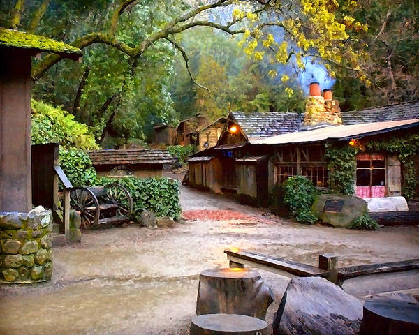 Wagon Wheel Digital Art - Coldspring Tavern by Patricia Stalter