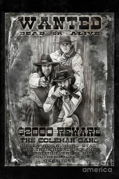 Photograph - Coleman Gang Wanted Poster by Brad Allen Fine Art