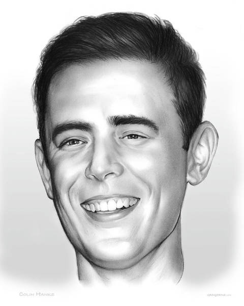 Shorts Wall Art - Drawing - Colin Hanks by Greg Joens