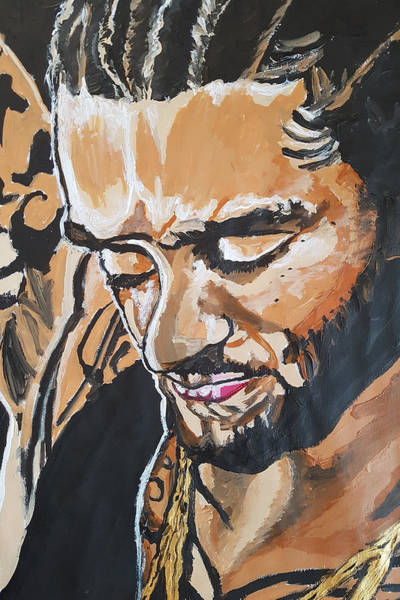 Painting - Colin Kaepernick by Rachel Natalie Rawlins