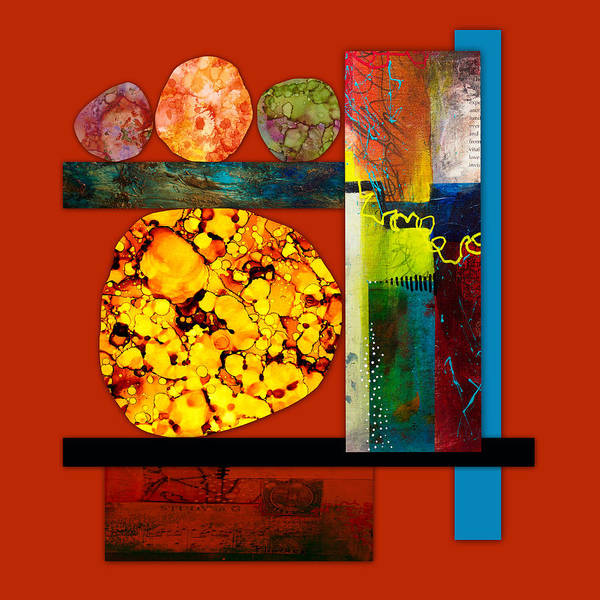 Mixed Media - Collage Abstract 3 by Patricia Lintner