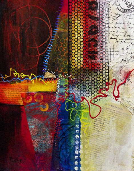 Wall Art - Painting - Collage Art 2 by Patricia Lintner