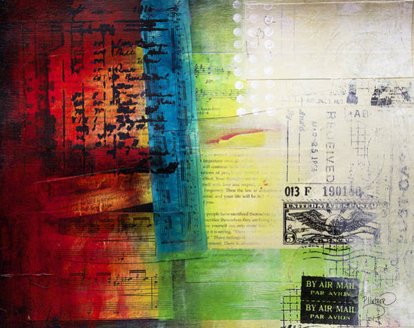 Wall Art - Painting - Collage Art 4 by Patricia Lintner