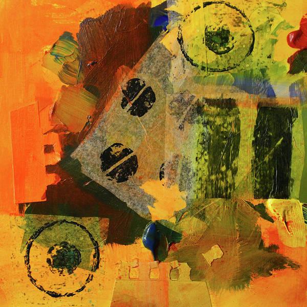 Dot Mixed Media - Collage No 10 by Nancy Merkle