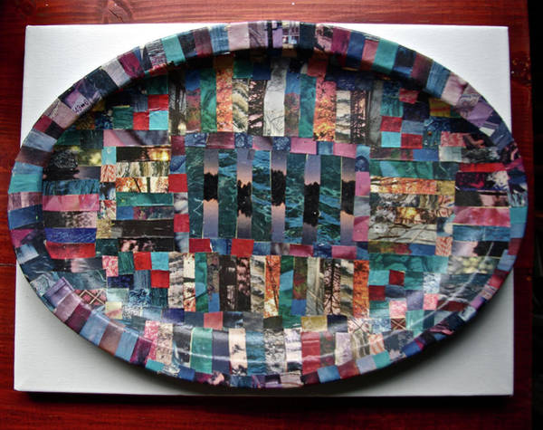 Wall Art - Mixed Media - Collage Plate by Rika Maja Duevel