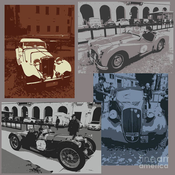 Photograph -  Retro Auto Collage by Marina Usmanskaya