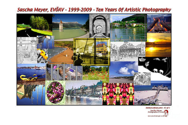 Photograph - Collage- Sascha Meyer Evoeav - 1999-2009 - Ten Years Of Artistic Photography - Limited Edition Print by Sascha Meyer