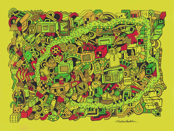 Wall Art - Drawing - Collar Boy by Chelsea Geldean