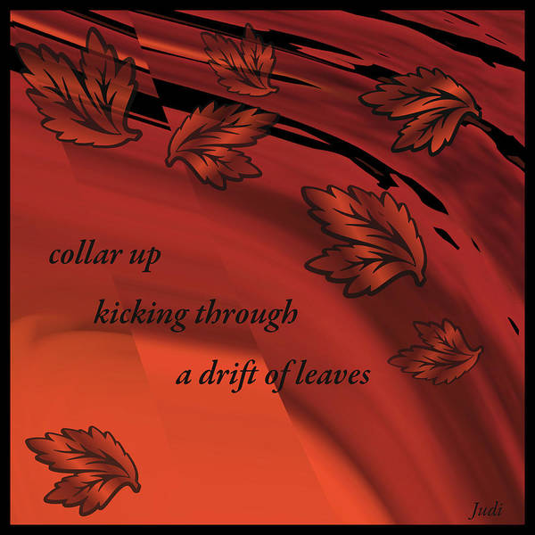 Digital Art - Collar Up Haiga by Judi Suni Hall