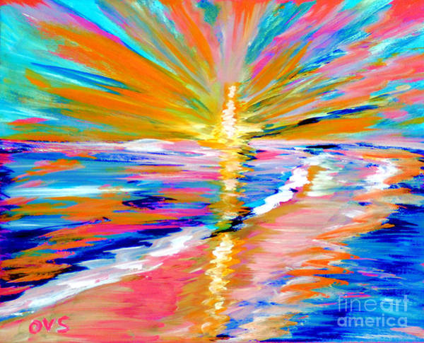Painting - Collection Art For Health And Life. Painting 5. Energy  Of  Life by Oksana Semenchenko