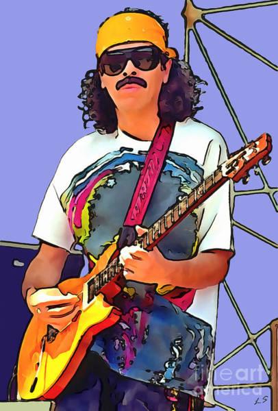 Black Magic Drawing - Collection Of Carlos Santana - 1 by Sergey Lukashin