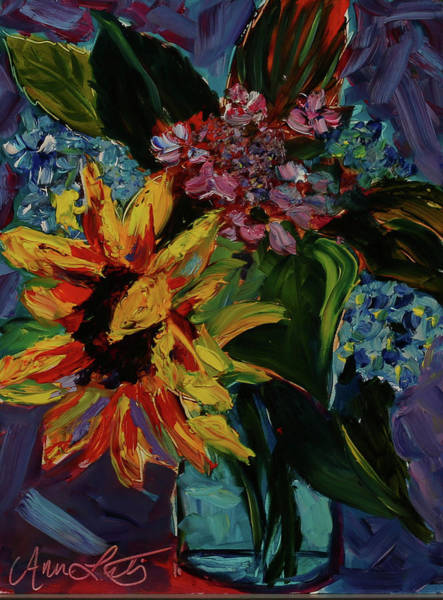Wall Art - Painting - Collection Of Flowers by Ann Lutz