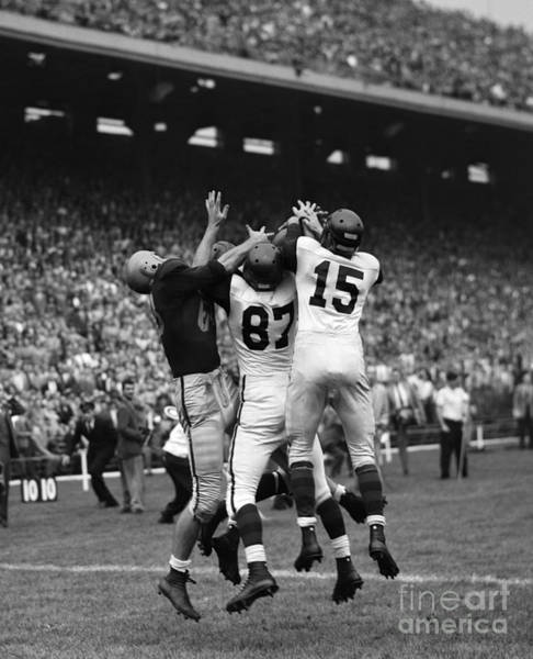 Photograph - College Football Game, C. 1950s by H. Armstrong Roberts/ClassicStock