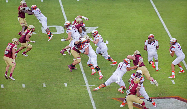 Vt Wall Art - Photograph - College Football Vt And Boston College by Betsy Knapp