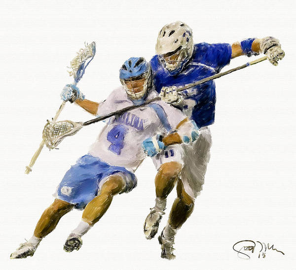 Lax Painting - College Lacrosse 21 by Scott Melby