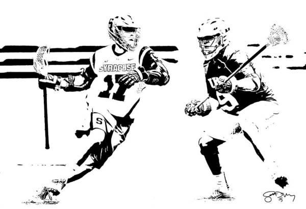 Lax Digital Art - College Lacrosse 22 by Scott Melby