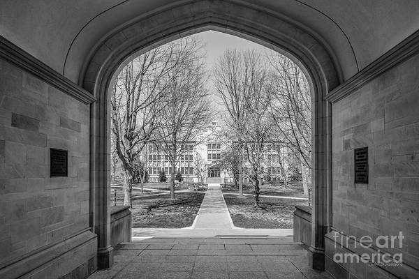 Photograph - College Of Wooster Kauke Hall Arch  by University Icons