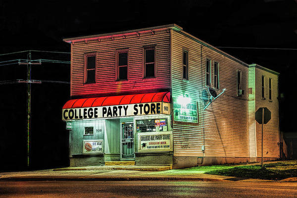 Photograph - College Party Store by Randall Nyhof