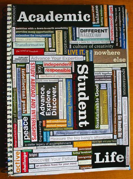 Mixed Media - College View Book Montage by Polly Castor