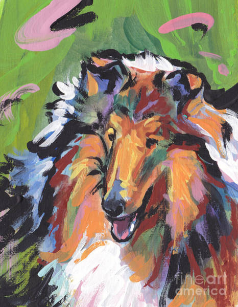 Collie Painting - Collie Folly by Lea S