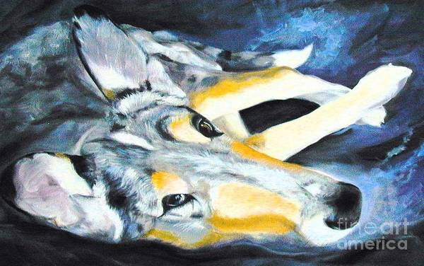 Wall Art - Painting - Collie Merle Smooth by Susan A Becker